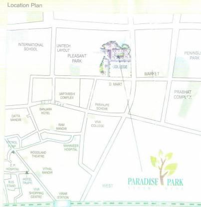 Parikh Paradise Park Location Plan