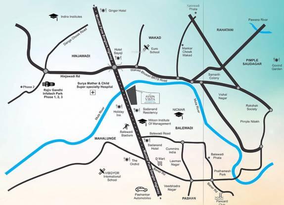 Naiknavare Avon Vista Location Plan