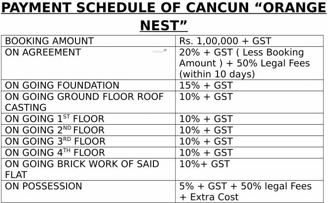 Cancun Orange Nest Payment Plan