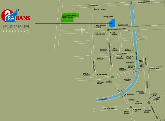 Rajhans Platinum Residency Location Plan