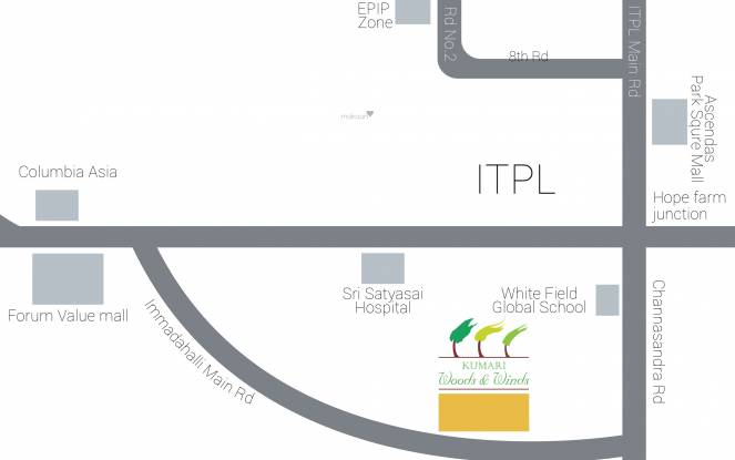 Kumari Woods And Winds Location Plan
