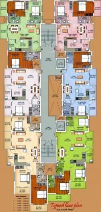 Divakar Diya Residency Cluster Plan