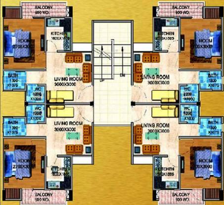 UPAVP Gulmohar Enclave Cluster Plan