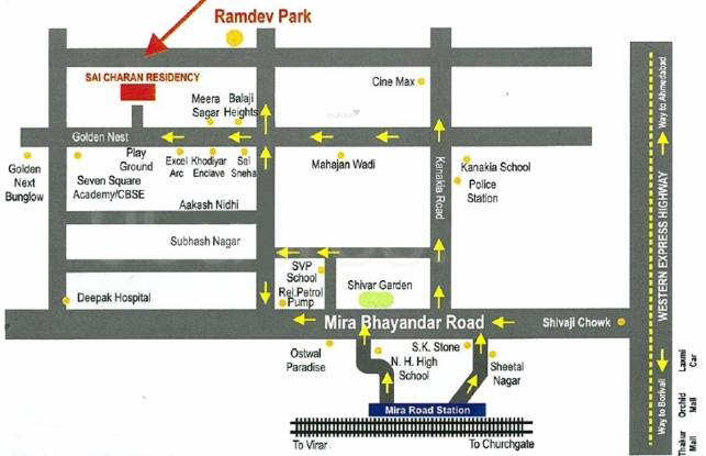 Gaurav Sai Charan Residency Location Plan