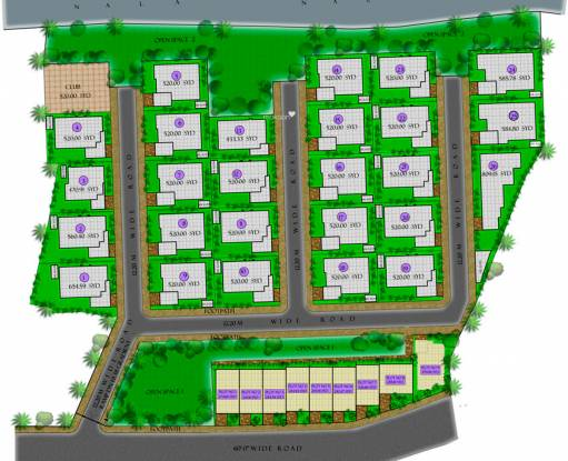 Koncept Palm County Rows Layout Plan