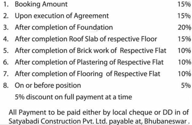 Satyabadi Residency Payment Plan