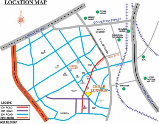 Cedar Luxuria Location Plan