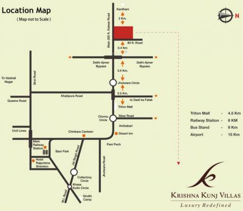 Krishna Kunj Villas Location Plan