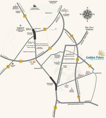 Ubber Golden Palms Plots Location Plan
