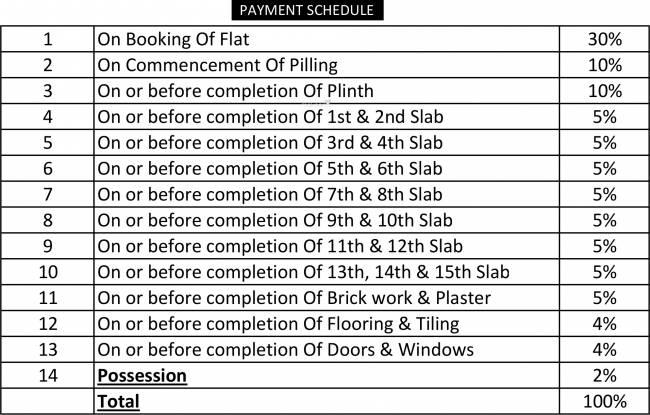 Lakhani Prestige Payment Plan
