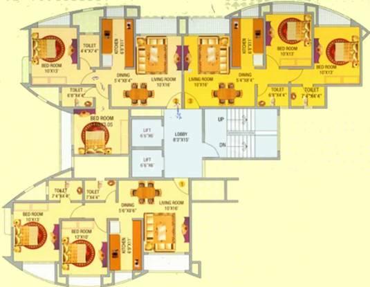 Gauda Bhakti Heights Cluster Plan