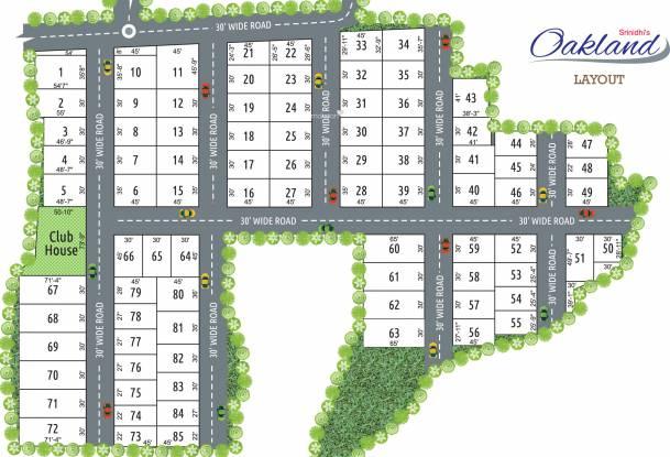 Srinidhi Oakland Layout Plan
