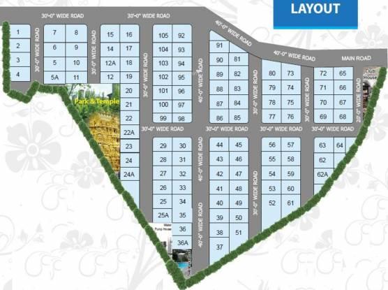 Ravella Srinivasa Lake View Villas Layout Plan