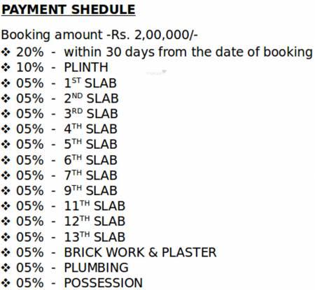 Dhariwal Mangaldeep CHSL Payment Plan