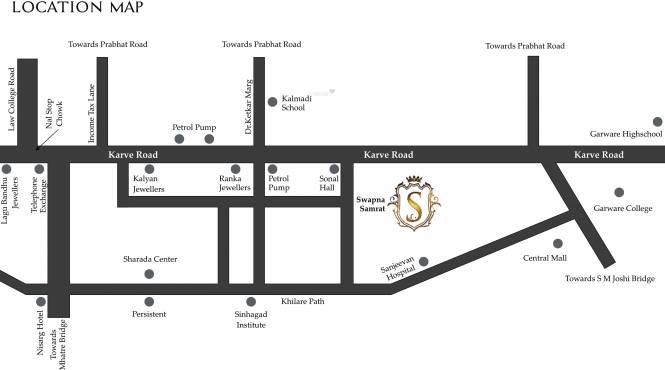 Paranjape Swapna Samrat Location Plan