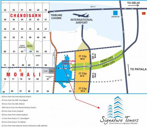 KLV Builders And Developers Signature Towers Location Plan