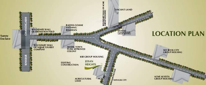 JSJ Josan Heights Location Plan
