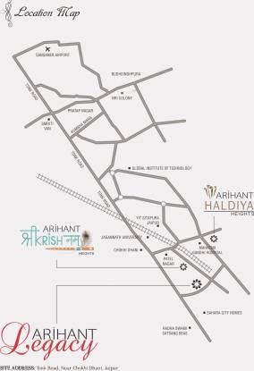 Arihant Legacy Location Plan
