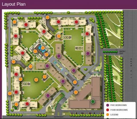 Suncity Jewel of India 1 Layout Plan