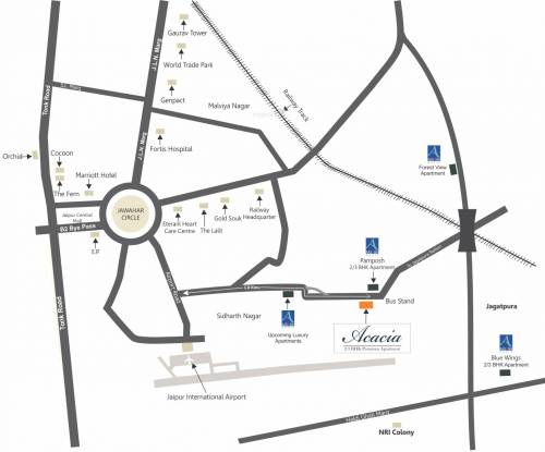 Aashish Acacia Location Plan