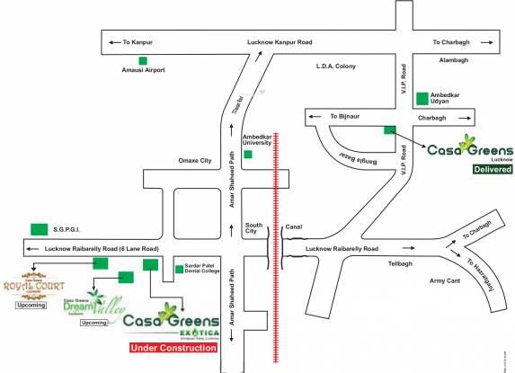 Radhey Casa Green Exotica Location Plan