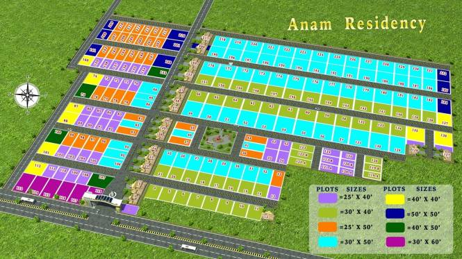 Anam Anam Residency Layout Plan