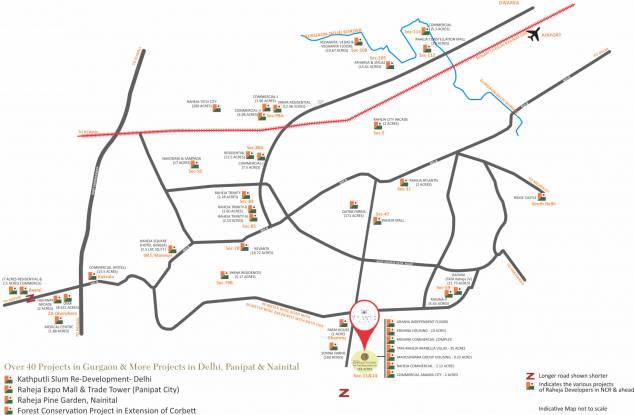 Raheja Maheshwara Location Plan