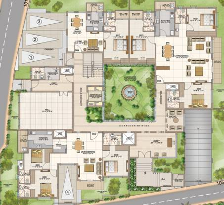 Aswan The Courtyard Square Cluster Plan