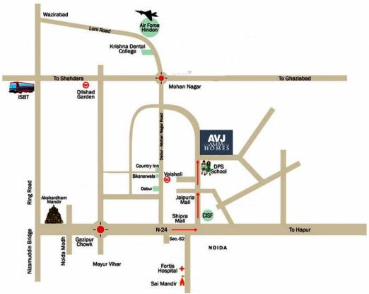Avj Amba Homes Location Plan