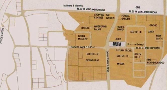 Lokhandwala Sierra Towers Location Plan