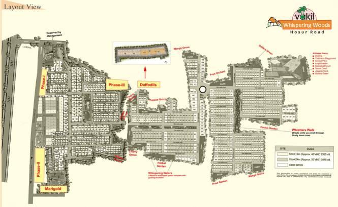 Vakil Daffodils Layout Plan
