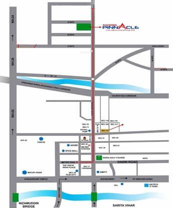 Panchsheel Pinnacle Location Plan