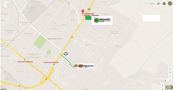 Rise Organic Ghar Location Plan