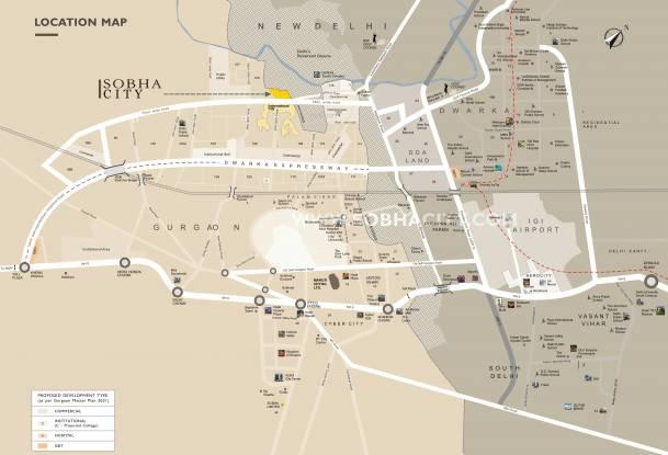 Sobha City Location Plan