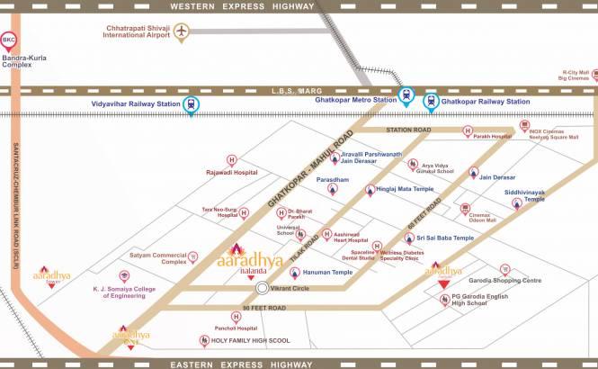 Man Aaradhya Nalanda Location Plan