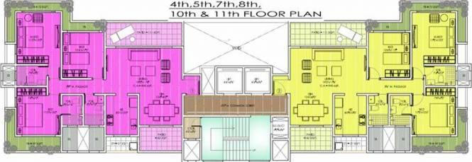 Wadhwa Parwana Tower Cluster Plan