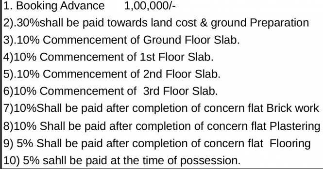 Dhiraan Newyork Meadows Payment Plan