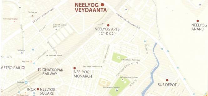 Neelyog Veydaanta Location Plan