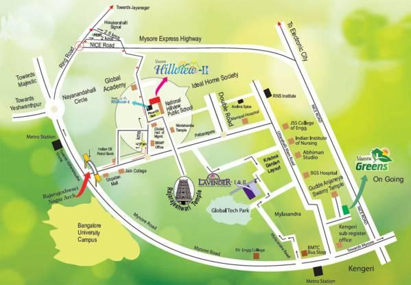 Vaastu Hill View III Location Plan