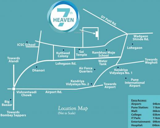 Kamdhenu 7th Heaven Location Plan