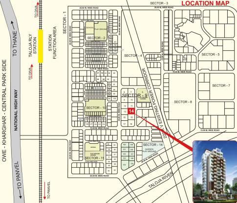 Shree Raj Uma Paradise Location Plan