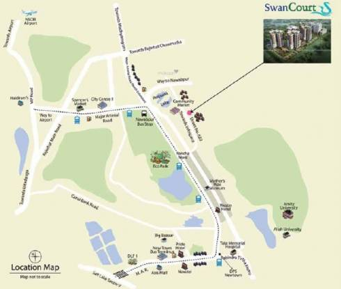 Reputed Swan Court Location Plan