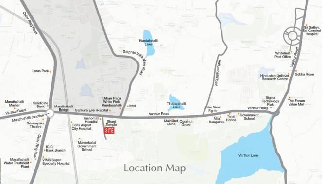 Purvi Mithila Location Plan