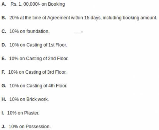 Balaji Crimson 2 Payment Plan