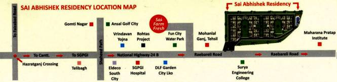 Sukriti Sai Abhishek Residency Location Plan