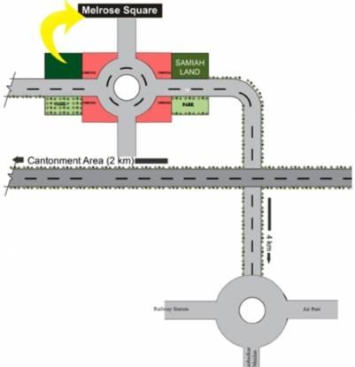 Samiah Melrose Square Location Plan
