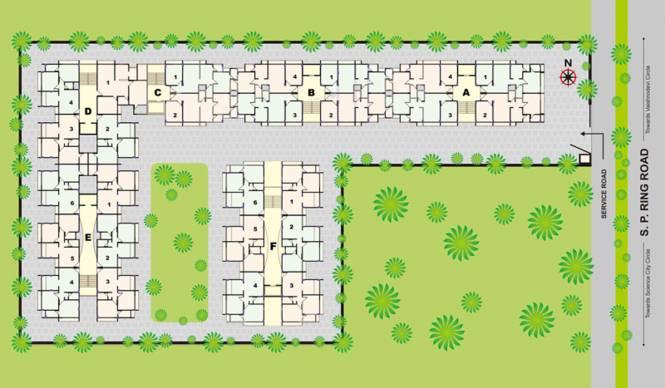 Nidhi Kuber Residency Master Plan