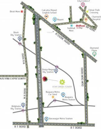 Star Green Tower Location Plan
