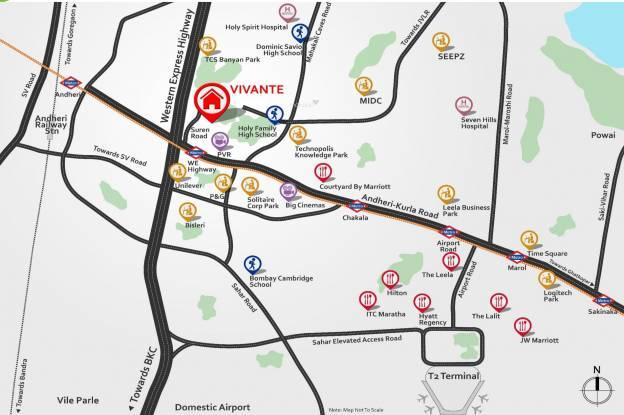 Mahindra Vivante Location Plan