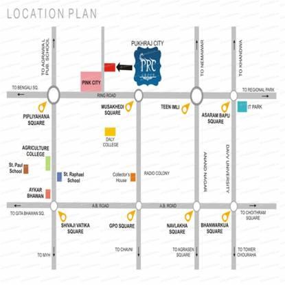 PRC Group Pukhraj City Location Plan